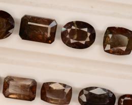 Rare 132.90 ct Multicolor Natural Axinite