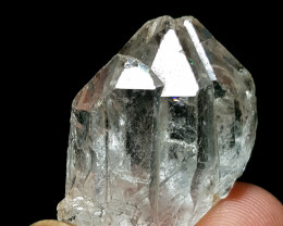 Stunning Natural lovely Triple gemmy quality Quartz crystal 69Cts-P