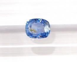 1.09ct unheated blue sapphire