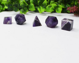 Bi-Color Amethyst Geometry Set - Crystal Healing