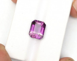 4.25 Carats Natural Bi Color Amythyst Cut Stone from Afghanistan