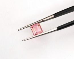 1.15 Carats Natural Pink Strip Tourmaline Cut Stone