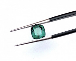 2.15 Carats Natural Blueish Green Tourmaline Cut Stone