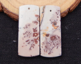 39.5cts natural chohua jasper earring beads ,healing stone D1038