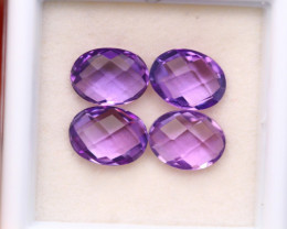4.57Ct Natural Purple Amethyst Oval Cut Lot A05