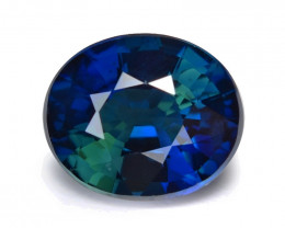 *NoReserve*Parti Sapphire 0.91 Cts Rare Natural Unheated Gemstone