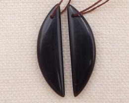 15cts obsidian earrings pair , natural stone earrings D1046