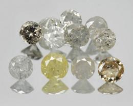 *No Reserve* Diamonds 1.06 Cts11Pcs Untreated Multicolor Natural