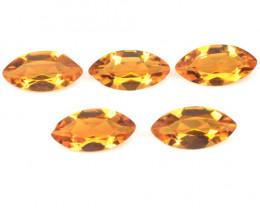 *NoReserve* Mystic Quartz2.30 Cts 5 Pcs Fancy Orange Color Natural