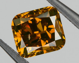 0.61 Ct SI2 Fancy Red Yellow Orange Loose Natural Diamond Cushion Untreated