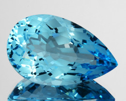 ~CUSTOM CUT~ 15.82 Cts Natural Baby Blue Topaz Fancy Oval USA