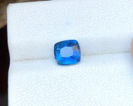 1.30 Ct Natural Blue Indicolite Transparent Tourmaline Ring Size Gemstone