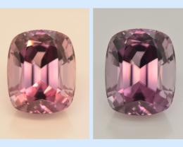 Diaspore Color Change 21.20 Carat One Of Best Pink Diaspore Gemstone