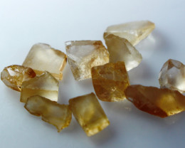 NR!!! 29.50 Cts Natural & Unheated~ Orange Brown Topaz Rough Lot