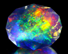8.55Ct ContraLuz Precision Cut Mexican Very Rare Species Opal C1215