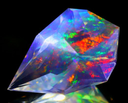 6.50Ct ContraLuz Precision Cut Mexican Very Rare Species Opal C1218