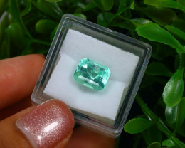2.93Ct Colombian Muzo Emerald Neon Mint Green Beryl C1229