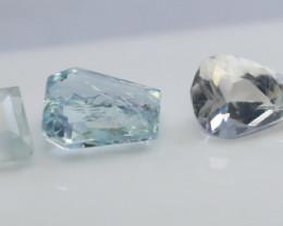 NR!!! 7.90 Cts Natural & Unheated~ Blue Aquamarine Gemstone Lot