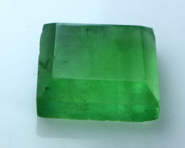 NR!!! 14.40 Cts Natural & Unheated~ Green Fluorite Faceted Cut Stone