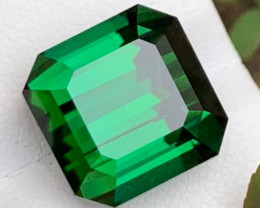 IF  11.90 CT Natural Beautiful Green Color Fancy Cut Tourmaline From Afghan