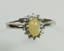 Natural Ethiopian Welo Opal Silver Ring