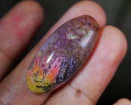 33.40 CT Beautiful Abstract Picture Indonesian Chalcedony Agate