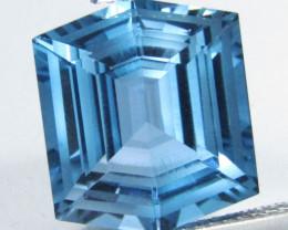11.55Cts Sparkling Natural London Blue Topaz Fashion Fancy Cut Loose Gem VI