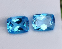 7.30 CTS INVESTMENT GEM~VIP SWISS BLUE TOPAZ  EXCLUSIVE !!