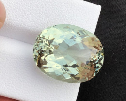 22.40 carats greenish aquamarine beryl loosegemstone