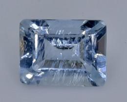 2.00 Crt  Aquamarine Faceted Gemstone (Rk-1)