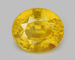 *No Reserve* Ceylon Sapphire 1.34 Cts Rare Natural Unheated Yellow Color Ge