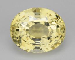 Sapphire 2.14 Cts Unheated Natural Yellow Ceylon Sapphire Gemstone