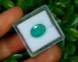 2.95Ct Oval Cut Natural Zambian Green Color Emerald A1311