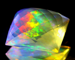 6.61Ct ContraLuz Precision Cut Mexican Very Rare Species Opal A1312