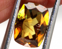 1.40 CTS  CHROME SPHENE FACETED   PG-448