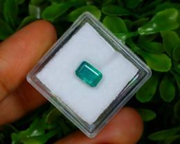 1.27Ct Octagon Cut Natural Zambian Green Color Emerald A1320