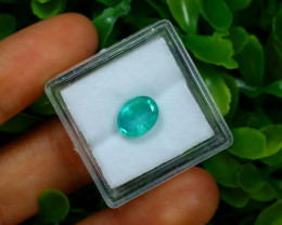Emerald 1.85Ct Octagon Cut Natural Zambian Green Emerald A1323