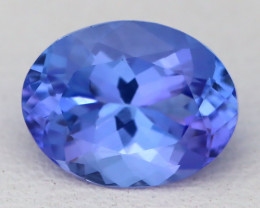 1.98Ct VVS Oval Cut Natural Vivid Purplish Blue Tanzanite A1324