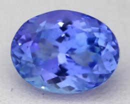 2.37Ct VVS Oval Cut Natural Vivid Purplish Blue Tanzanite A1332
