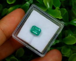Emerald 1.39Ct Octagon Cut Natural Zambian Green Color Emerald A1337