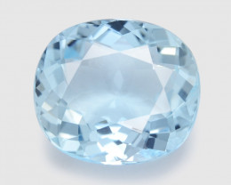 Aquamarine 5.01Cts Un Heated  Blue  Natural Aquamarine Loose Gemstone
