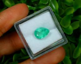 2.21Ct Colombian Muzo Emerald Neon Mint Green Beryl B1401