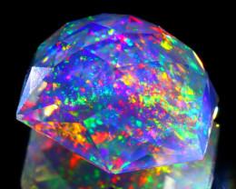 12.48Ct ContraLuz Precision Cut Mexican Very Rare Species Opal B1407