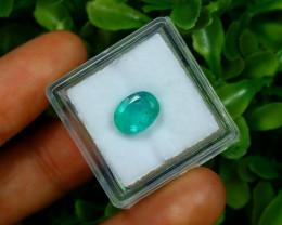 Emerald 2.01Ct Oval Cut Natural Zambian Green Color Emerald B1409