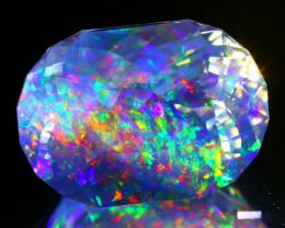 13.08Ct ContraLuz Precision Cut Mexican Very Rare Species Opal B1413