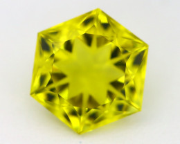 9.45Ct VVS Design Hexagon Cut Natural Lemon Quartz B1422