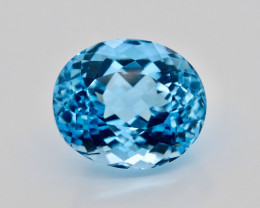 Amazing Laser Cut 22.10 Ct Natural Swiss Blue Color Topaz