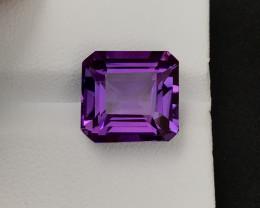 Deep Purple 7.65 Ct Natural Amethyst A.Q'