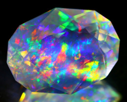 18.60Ct ContraLuz Precision Cut Mexican Very Rare Species Opal B1435