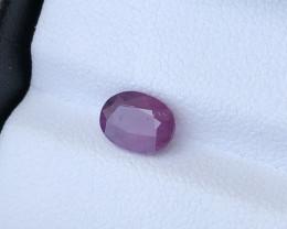 GGI lab certified natural purple sapphire 1.40 carats